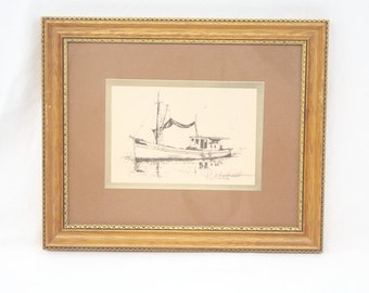 Phil Montat Lithograph - Double signed