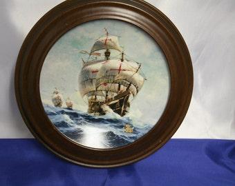 Vintage Under Full Sail by Jordi Penalva Collectors Plate