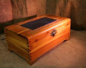 Vintage Hand Carved Jewelry Box