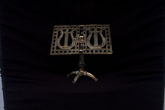 Miniature Silver Plated Music Stand
