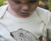 Box Pufferfish, Te'e Te'e 100% Organic Cotton Long Sleeve, Tofu Baby Onesie