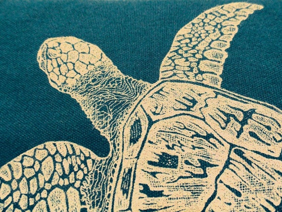 Sea Turtle Long Sleeve Onesie, Honu, Mediterranean, 0-3 months Newborn