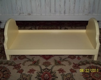Doll bed fits American girl 18 inch dolls yellow