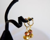 Gold Stack Clip On Chinese Crystal Earrings