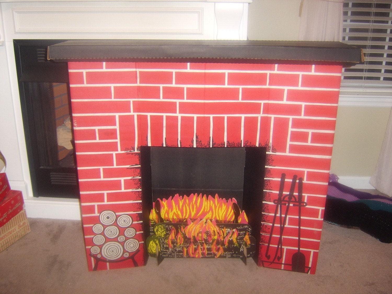 vintage cardboard fireplace