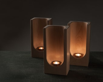 Group of 3 Tealight Totems by Plywood Office