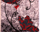 Original Art Card  'A Love Story' No.8 of this ACEO Series w/ FREE Shipping Worldwide
