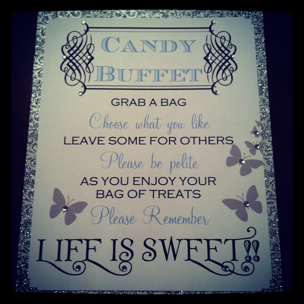 Quotes for candy buffet table just b cause for Table quotes
