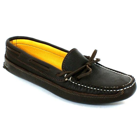 Womens Deerskin Lined Canoe Sole Leather Moccasin