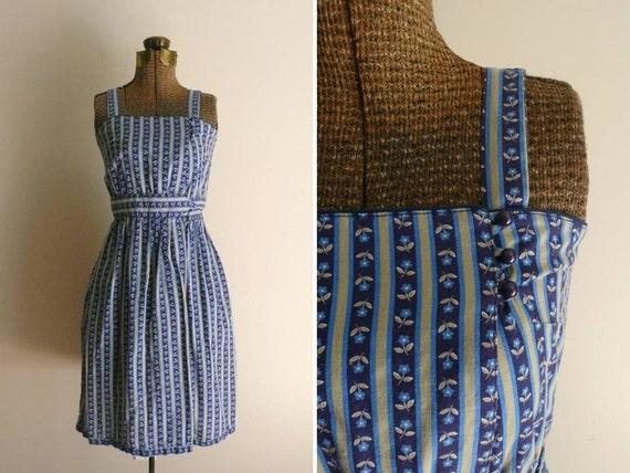 Vintage 1970s Dress Daisy Chain Lanz Sundress