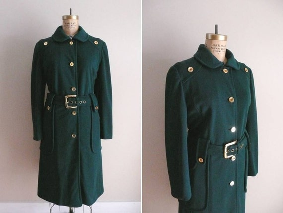Vintage 1960s Coat In the Green George West by Youth Craft Coat
