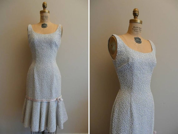 Vintage 1950s Dress Bead Mine Lee Jordan New York Wiggle Dress