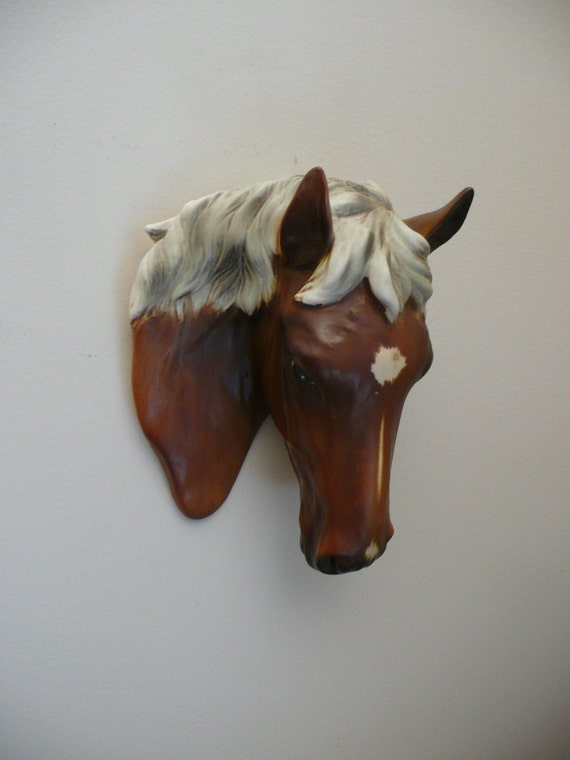 Vintage Horse Head Wall Hanging Plaque