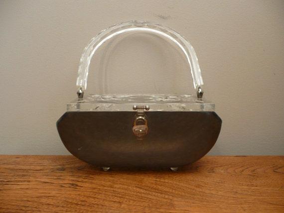 Vintage 1950s 1960s Rialto NY Lucite Handbag