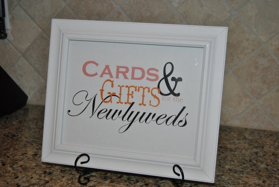 Wedding Gift Table Sign : Items similar to Wedding Sign - Gift Table - Customized on Etsy