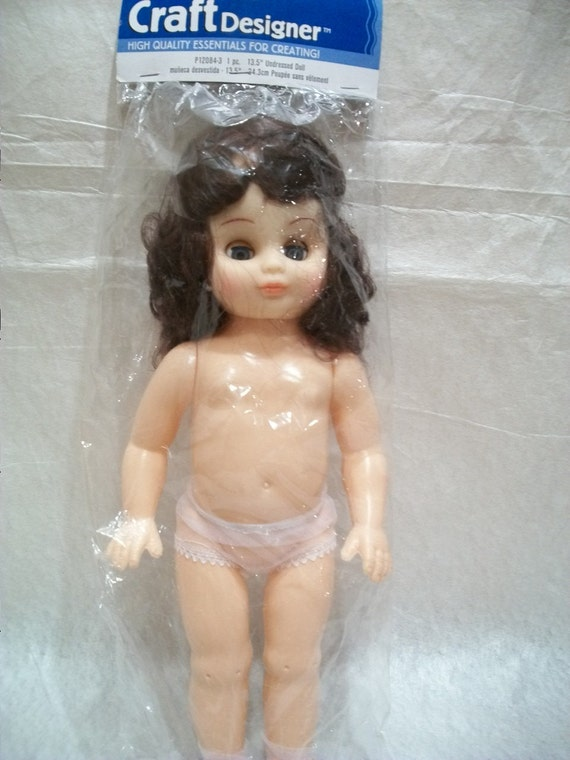Vinyl and Plastic Undressed Doll for Crafts and Decoration 13.5 inches, by Darice