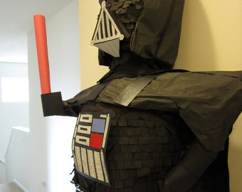 Darth Vader pinata with reusable cape for Star Wars party