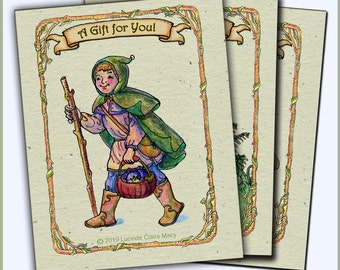 Fairy and Elf gift tags for holiday cheer, pack of 9