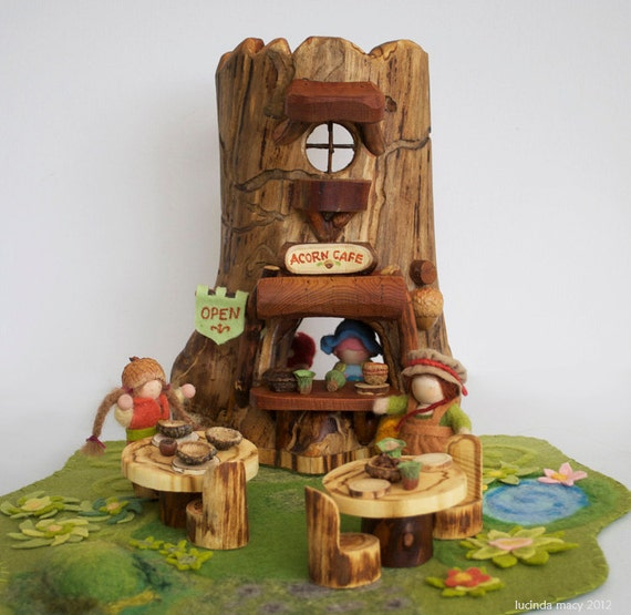 Acorn Gnome Cafe made from Aspen wood