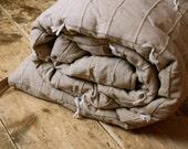 Sleeping bag, adult, ex wide, charcoal lining
