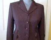 John Meyer Embroiderered and Beaded Jacket SZ 10