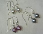 Pearl Bridesmaid Earrings Bridesmaid Gift Set of 6 Pearl Earrings Bridesmaid Jewelry Gift Pearl Bridal Earrings Wedding Jewelry