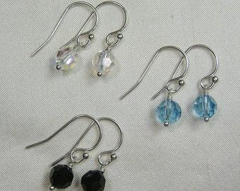 Birthstone Earrings Bridesmaid Earrings Swarovski Crystal Earrings Bridesmaid Jewelry Dangle Earrings Wedding Jewelry Bridal Earrings