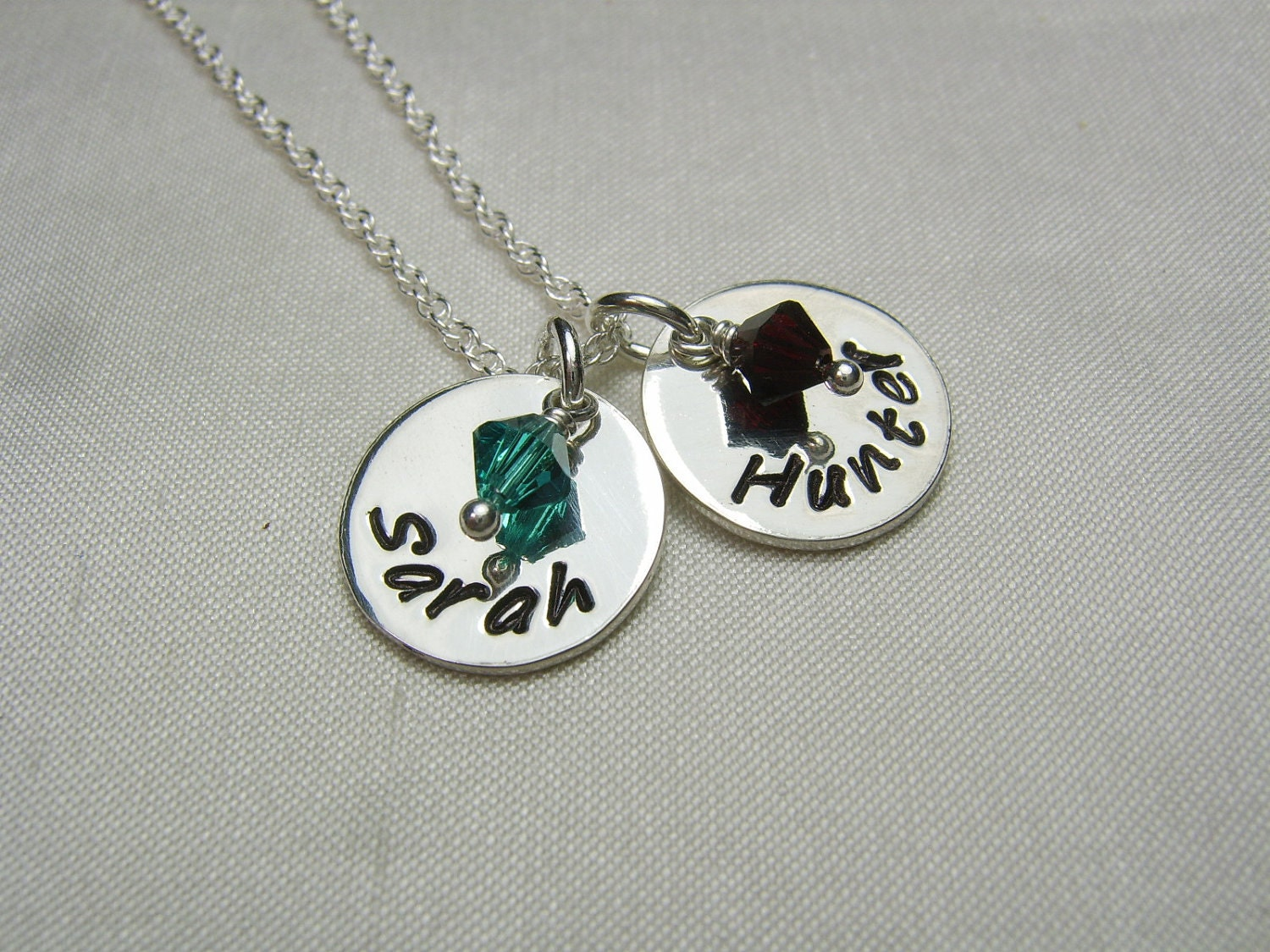 birthstone mothers necklace personalized name necklace silver. Black Bedroom Furniture Sets. Home Design Ideas