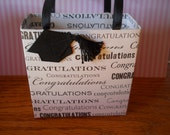 Graduation gift bag, great for parties or just to make that small gift special, ie.  gift card, jewelry, cash and candy etc.