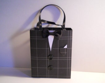 Tuxedo gift bag