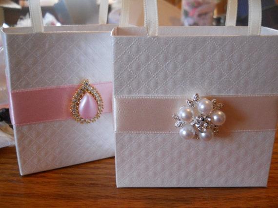 Elegant Wedding Gift Bags : ... Elegant Wedding Favor Bag, Bridal Shower Bag, Bachelorette favor bags