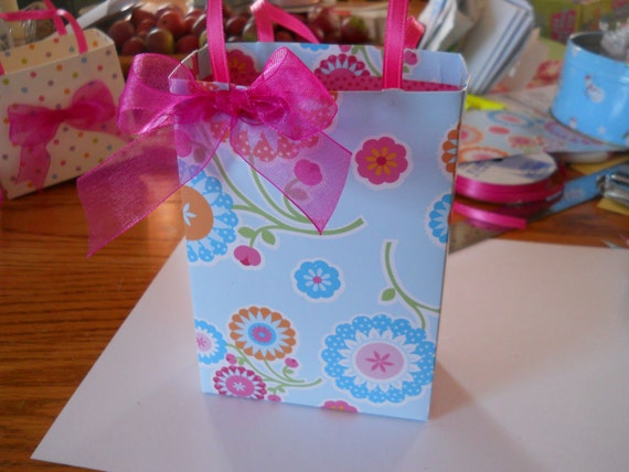 Party favor gift bags, custom ordered