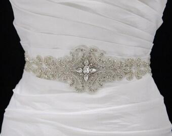 Beaded Bridal Sash,Crystal bridal belt,bridal accessories,bridal sash,rhinestone belt,winter wedding,wedding sash,wedding dress sash,prom