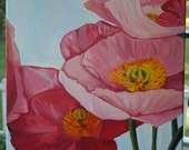 Poppies in Bloom Original Oil on Canvas 16x20