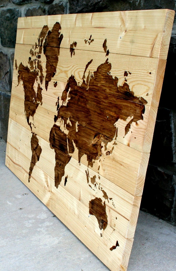 "World Map Wood Wall Art items similar to rustic wood world map wall art 21"" x 31"" on etsy"