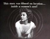 Christmas 1955 Movie Ad Susan Hayward I'll Cry Tomorrow Film Noir Print Ad