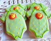 A Dozen Lion Onesie Vanilla Sugar Cookie perfect for your Baby Shower