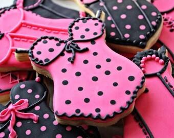 A dozen lingerie cookie