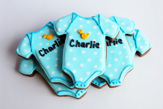 A Dozen Onesie Vanilla Sugar Cookie perfect for your Baby Shower