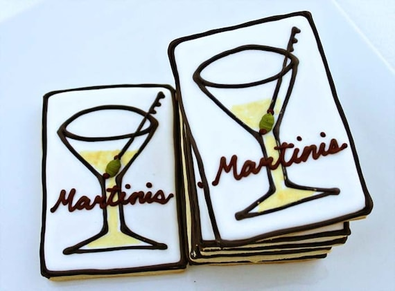 A Dozen Martini Cookies - Perfect for your Cocktail Party
