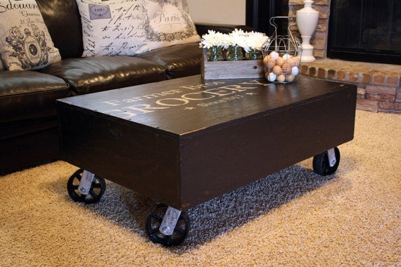 Coffee Table - Vintage Industrial Style