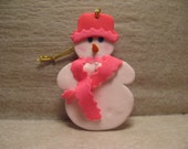 Breast Cancer Awareness Snowlady