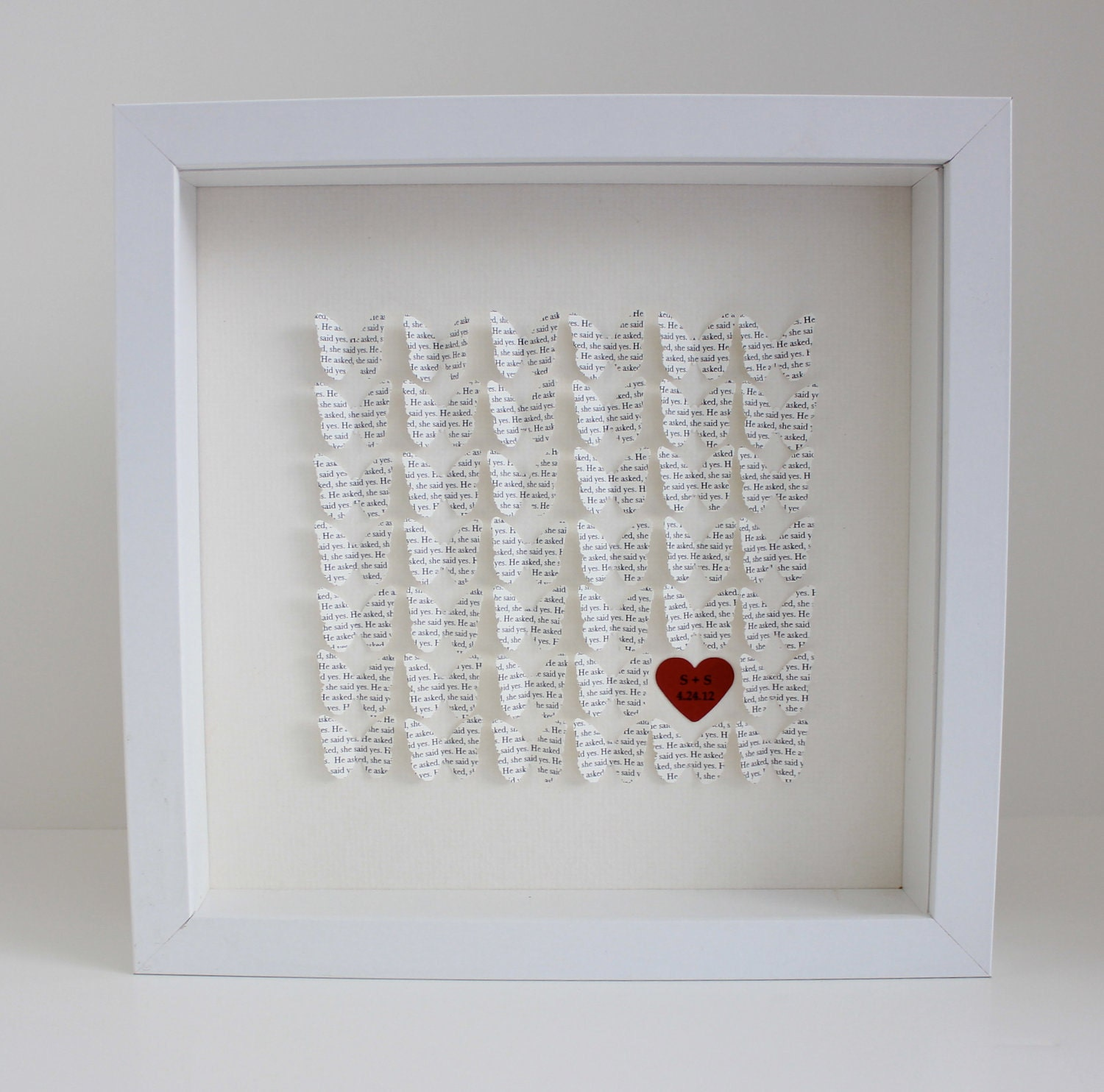 Unique wedding engagement gift frame : 3d framed by CeladonHome
