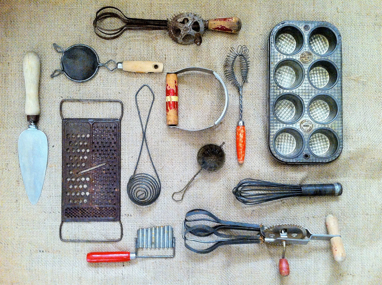 Antique Kitchen Tools ~ Vintage kitchen tools