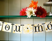 Love You Mom  Banner Sign Garland Decoration