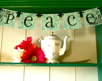 PEACE  Banner Sign Garland Decoration