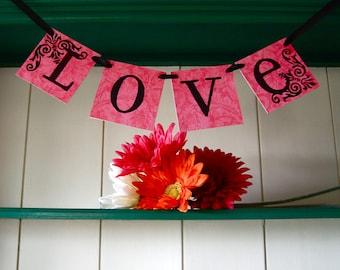 LOVE  Banner Sign Garland Decoration