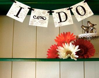 I DO Wedding Banner Sign Garland Decoration