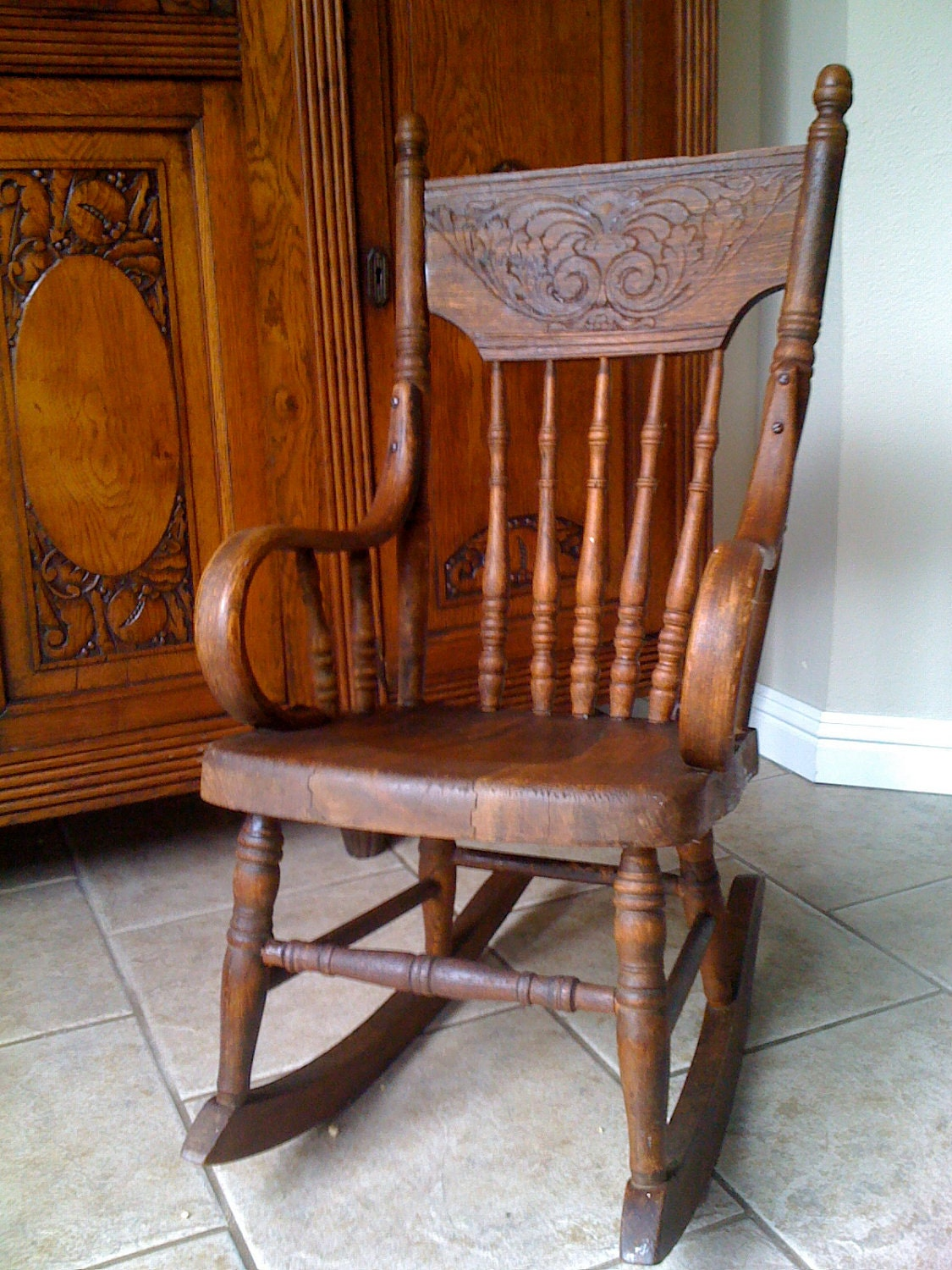 Adorable antique child s rocking chair