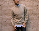 80s 90s OXFORD wool SWEATER simple classic PREPPY style